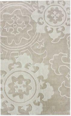 Suzani IVORY 7.6x9.5 $199 Poly rug