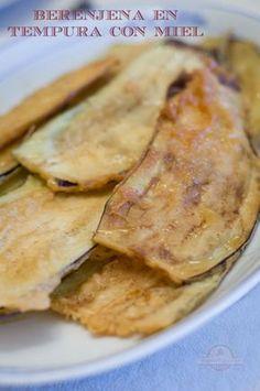 Berenjenas en Tempura - Texto Clean Recipes, Veggie Recipes, Vegetarian Recipes, Cooking Recipes, Healthy Recipes, Tempura, Veggie Main Dishes, Island Food, Creative Food