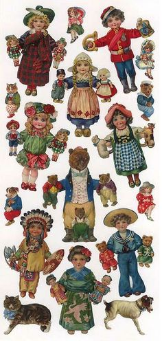 .Paper dolls for Christmas