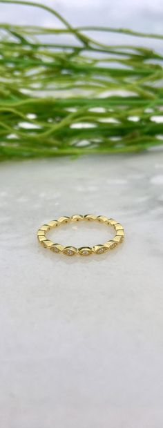 Size 6 Infinity Gold Over Silver Cubic Zirconia Ring