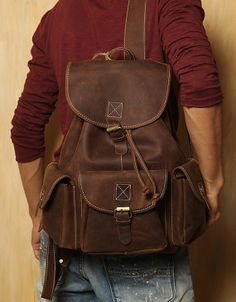 Hey, I found this really awesome Etsy listing at https://www.etsy.com/listing/159228835/pre-order-strong-leather-backpack