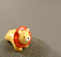 Motion Lion - Hand Sculpted Miniature Polymer Clay Animal