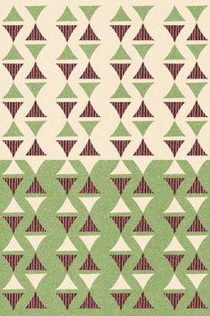 <Pattern34> Futoshi Nakanishi abstract retro geometric