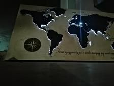 Maps of the world with led light Custom Map, Wood Paneling, Maps, Glow, Wall Decor, Lights, World, Etsy, Wooden Panelling