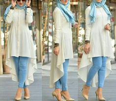 Hijab spring 2018 Just Trendy Girls İslami Erkek Modası 2020 Hijab Style Dress, Hijab Look, Casual Hijab Outfit, Pakistani Fashion Casual, Abaya Fashion, Modest Fashion, Muslim Women Fashion, Islamic Fashion, Stylish Hijab