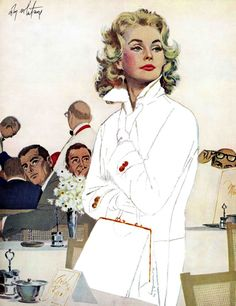 "Vintage Fashion ""Too Young for Trouble"" by Coby Whitmore Painting Print on Wrapped Canvas"