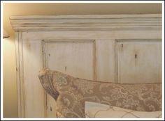 Old door as headboard