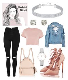 """""""Bombshell"""" by amariah-rose-love ❤ liked on Polyvore featuring Swarovski, Topshop, Fendi and CLUSE"""