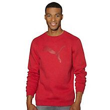 This crew neck has a straightforward design and high-contrast PUMA Cat Logo that makes keeping cozy while still looking stylish. The cut is slender for a modern take but still provides plenty of room for layers underneath.   Features:   67% Cotton,33% polyester for long wear and softness  Slim cut for modern fit  Contrast colorblock at sleeves PUMA Cat Logo at center chest