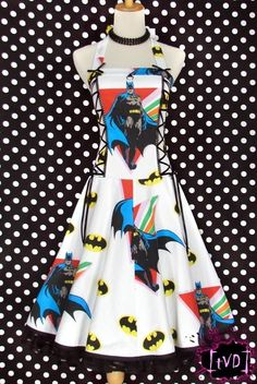 Adorable retro Batman dress.