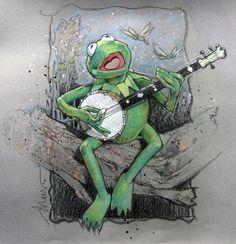 Kermit the Frog by Drew Struzan.