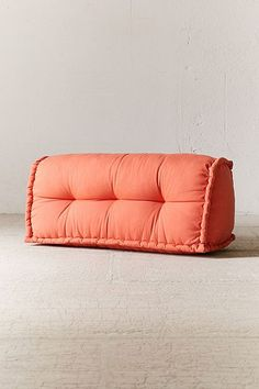 Shop colorful, convertible sofas and plush sectionals at Urban Outfitters. Find deco couches, loveseats, tufted daybeds, and more in various styles to refresh your home decor! Diy Sofa, Diy Bed, Reema Floor Cushion, Small Porch Decorating, Tommy Bahama Beach Chair, Soft Seating, Extra Seating, Apartment Furniture, Dorm Furniture