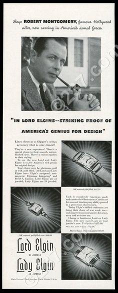 1942 Lady Lord Elgin watch 3 styles photo vintage print ad | eBay