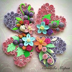 ©  Маруся Мальцева - Quilled hearts pictures  (Searched by Châu Khang)
