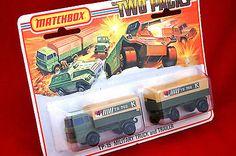Rare Lesney MATCHBOX Superfast TWO PACKS TP 15 Mercedes Military Truck & Trailer - http://www.matchbox-lesney.com/37710