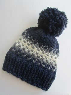 2cb9fc91b84 Items similar to Navy Blue Fair Isle Knit Hat