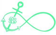 anchor infiity | Infinity Anchor Drawing Monogram infinity anchor vinyl