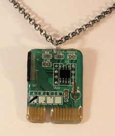 Circuit Board Resin Pendant Necklace       #2 #handmade #Pendant