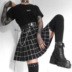Edgy Outfits, Retro Outfits, Grunge Outfits, Cute Casual Outfits, Grunge Clothes, Flannel Outfits, Gothic Outfits, Hippie Outfits, Kawaii Clothes
