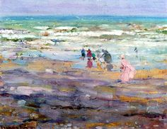 Beach in Corsoca Frederick Carl Frieseke - circa 1913