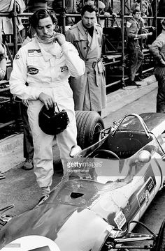The Scottish race car driver Jim Clark on the circuit of 'Jarama', 13rd March 1968, Madrid, Spain.
