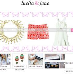 Luella and June - adorable blog!