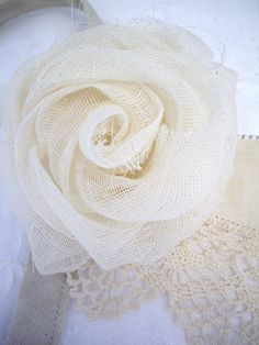 Cheese Cloth also tea dye to give vintage look