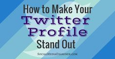 When was the last time you looked at the words in your Twitter profile? Is your Twitter bio interesting? A little personality in your Twitter description makes you stand out from the masses and entices people to follow you.In this article you'll discover how to share your personality #twittertips