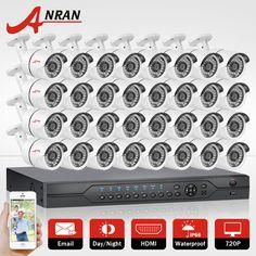 ANRAN 1080N HDMI DVR Kit 720P 1800TVL IR Outdoor Camera 32CH AHD Security Camera System Home CCTV Video Surveillance System