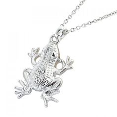 Delicate Rhinestone Frog Shape Pendant Necklace For Women #shoes, #jewelry, #women, #men, #hats, #watches, #belts
