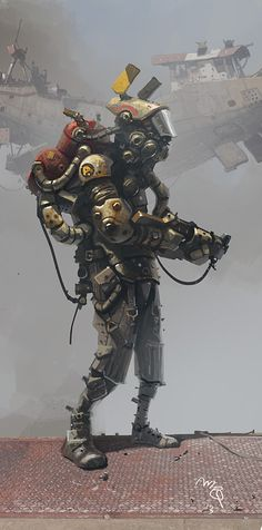 Obligatory Space Marine Type Dude. by Ian McQue (via Scotch Corner)