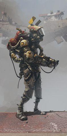 Obligatory Space Marine Type Dude. by Ian McQue (via Scotch Corner)