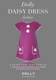 DOLLY DAISY DRESS WITH PEARLS fuchsia