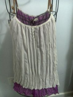 White n Purple Mini Dress