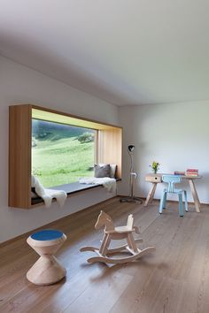 Deco Bow window or Window seat 2 Fenetre de lecture rebord large Deko Bugfenster oder Fensterbank 2 Vorlesungsfenster groß Window Benches, Window Seats, Modern Window Seat, Modern Windows, Huge Windows, Wood Windows, Window Sill, Interior Architecture, Interior Design