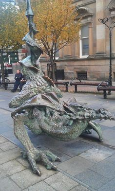 Street dragon, Dundee, Scotland