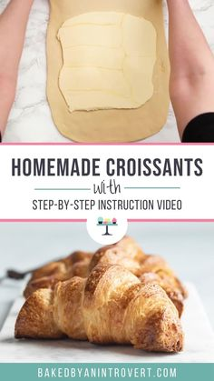 How to Make Homemade Croissants Croissants Recipe Video, Easy Croissant Recipe, Homemade Croissants, Making Croissants, Pastry And Bakery, Bread And Pastries, Bakery Recipes, Pastries Recipes, Cooking Recipes