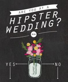 The infographic you needed to tell if you're at a hipster wedding