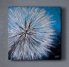 Abstract Dandelion Painting by starflycreations on Etsy, $150.00