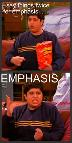 more drake and josh, that moment when I read it just how josh says it.