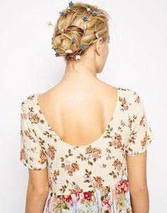 ASOS - Boho-Haarschmuck mit Papierblumen - Mehrfarbig #jewelry #covetme #asos