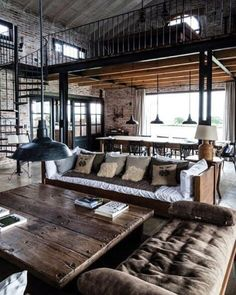 285 Best Converted Industrial Lofts Images Decorating Kitchen