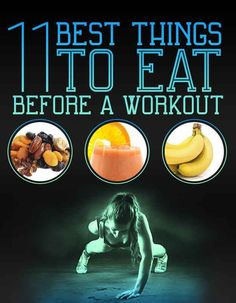 Sometimes I don't have time for a whole meal before a workout, but there are some great ideas here for something quick