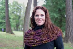 Hand Knit Ribbed Cowl in PlumGold by RoseStreetKnits on Etsy, $50.00