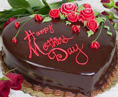 Torta per la festa della mamma al cuore di cioccolato