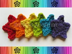 PATTERNCrochet Star AppliqueDetailed Photos by EverLaughter, $4.95