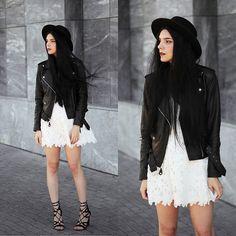 White lace and black leather   Lookbook.nu   Bloglovin'