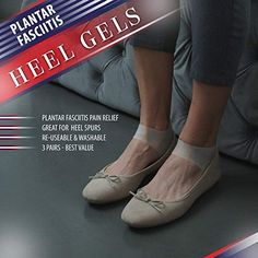 Plantar Fasciitis Inserts Heel Protectors - Silicone Gel Heel Cups Shoes Inserts, Orthotics Heel Cushion for Bone Spur & Heel Spur Pain Relief 3 Pairs of Foot Pain Plantar Fascitis Heel Sleeves - Heel Pain, Foot Pain, Plantar Fasciitis Inserts, Silicone Gel, Pain Relief, Cushion, Cups, Dance Shoes, Personal Care