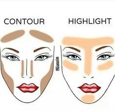Highlight/contour cheat sheet