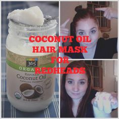 To prevent split ends and make your hair super shiny, try this 30 minute coconut oil hair mask.